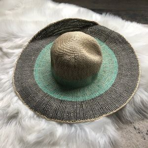NWT Colorblock oversized straw hat
